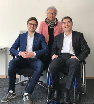 Das Angewandte Disability Team (v.l.n.r.): Philip Bootz, Ursula Wuermli und Prof. Dr. Nils Jent