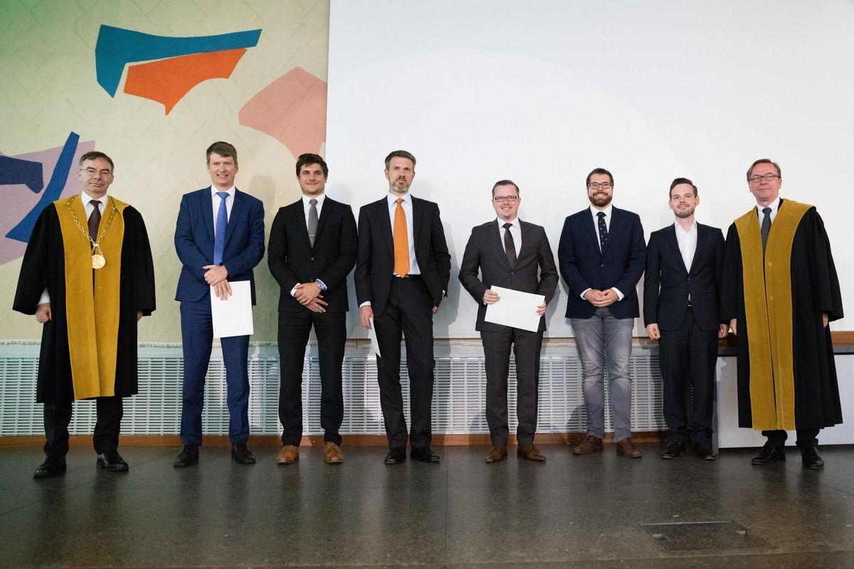 BWL Team bei der Verleihung des Impact Awards am Dies Academicus