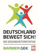 """Logo der Initiative """"Deutschland bewegt sich"""" der Barmer GEK und BILD"""
