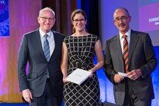 Prof. Dr. Beatrix Eugster bei der Verleihung des Latsis Preises in Genf