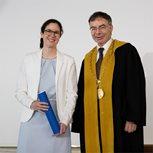 Prof. Dr. Beatrix Eugster bei der Verleihung des Latsis Preises am Dies Academicus 2019